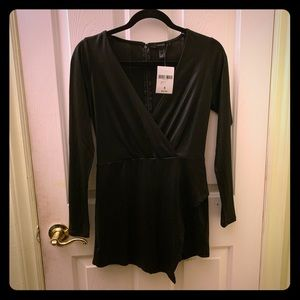 NEW Forever 21 Long Sleeve Evening Romper